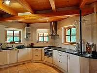 Kuchyň - chalupa ubytování Prkenný Důl