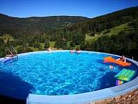 výhled z bazénu