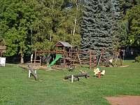 Dětské hřiště v blízkosti chaty