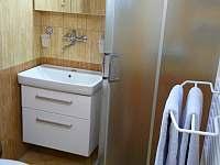 Koupelna se sprchovým koutem a dalším WC - chalupa k pronájmu Rokytnice nad Jizerou