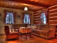 velká obývací místnost - chalupa k pronajmutí Vidochov