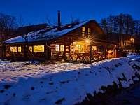 Zima - srub ubytování Trutnov - Bojiště
