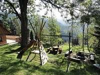 Chata U jasanu - venkovní posezení - k pronajmutí Špindlerův Mlýn - Labská
