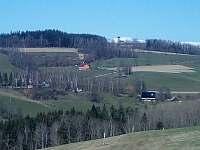 Pohled z protějšího kopce - pronájem chaty Vysoké nad Jizerou - Helkovice
