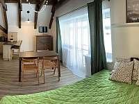 Obývací prostor s dvoulůžkem - apartmán k pronájmu Horní Malá Úpa