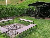 Ohniště a grilování - chata ubytování Bolkov