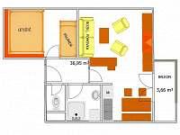 Apatmán pro 6 osob - Rokytnice nad Jizerou - Krkonoše - apartmán k pronájmu
