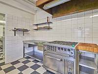Kuchyně velká s profi zařízením, myčka, mikrovlnka, pračka, sušička - pronájem chalupy Rudník