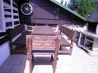 terase s krbem - chalupa ubytování Studenec