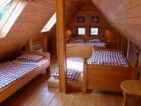 velká ložnice - chalupa ubytování Studenec