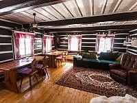 Obývací pokoj - chalupa ubytování Dolní Dvůr