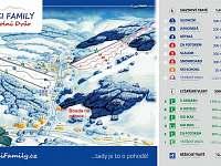 mapa skiareálu u chalupy