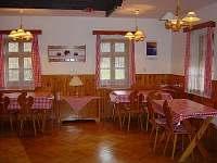 Společenská místnost - jídelna - chata ubytování Velká Úpa