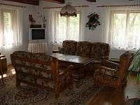 společenská místnost - chalupa ubytování Horní Lánov