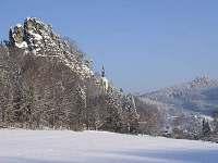 Okolí v zimě - chalupa ubytování Bozkov