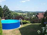 Venkovní bazén - chalupa ubytování Bozkov