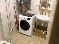 Koupelna vybavena pračkou - apartmán k pronájmu Čistá