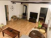 Útulný obývací pokoj - apartmán ubytování Čistá