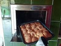 Pečení v kamnech - pronájem chalupy Mostek - Debrné