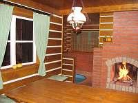 sauna s posezením - chata k pronajmutí Jilemnice