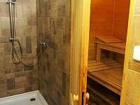 finská sauna se sprchou - Prkenný Důl