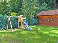 něco pro malé děti-houpačka, pískoviště - ubytování Prkenný Důl