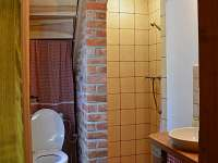 Koupelna - roubenka - chalupa k pronájmu Rtyně v Podkrkonoší