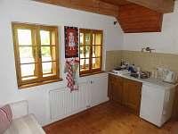 Kuchyňský kout - Vejminek - chalupa k pronájmu Rtyně v Podkrkonoší