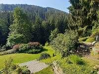 výhled z pokoje - chalupa ubytování Jablonec nad Jizerou - Blansko