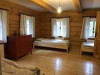 Oddělený apartmán s vlastní toaletou, sprchou a kuchyňkou - pronájem chalupy Bratrouchov