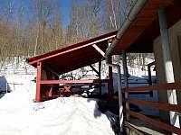 Pergola v zimě - chata k pronájmu Černý Důl - Čistá v Krkonoších