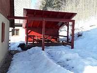 Pergola v zimě - chata k pronajmutí Černý Důl - Čistá v Krkonoších
