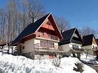 Zimní pohled na osadu - chata ubytování Černý Důl - Čistá v Krkonoších