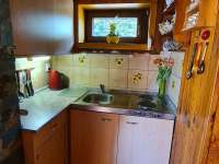 Kuchyňka - pronájem chaty Oblanov