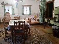 Béžová část - chalupa ubytování Horní Brusnice