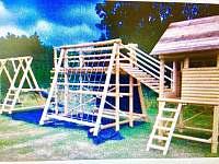 hřiště pro děti u chalupy - ubytování Harrachov - Nový Svět