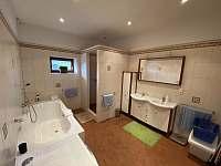 Koupelna - apartmán ubytování Hertvíkovice