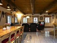 obývací pokoj - pronájem chalupy Horní Maršov