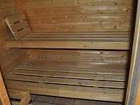Sauna pro 6 osob - rekreační dům k pronájmu Trutnov