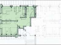 Apartmán 1 - půdorys - Černý Důl