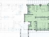 Apartmán 2 - půdorys - Černý Důl