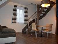 Obývací pokoj v 7 lůžkovém apartmánu