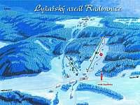mapka skiareálu - Radvanice v Čechách