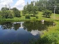 pohled na rybníček od srubu - pronájem Radvanice v Čechách