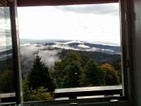 Pohled z okna jídelny - chalupa k pronájmu Strážné