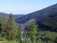 Horský ranč výhled z terasy