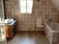 Bozanov horní koupelna 1 - chalupa k pronajmutí Božanov