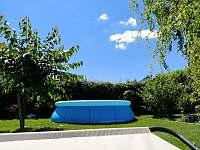 Bazén o průměru 3.6m a výšce 0.8m - apartmán k pronájmu Svoboda nad Úpou