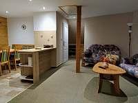 Obývací prostor. - pronájem apartmánu Svoboda nad Úpou