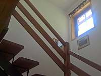 Schodiště do apartmánu - ubytování Svoboda nad Úpou